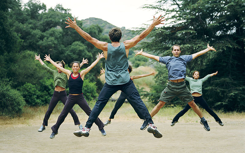 Exercice jumping jack